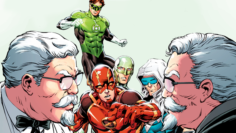 Illustration for article titled Colonel Sanders Battles Himself In DC And KFC'S New Crossover Comic