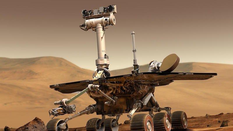 El rover Opportunity de la NASA en Marte.