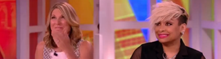 Nicolle Wallace and Raven-Symoné of The ViewYouTube Screenshot