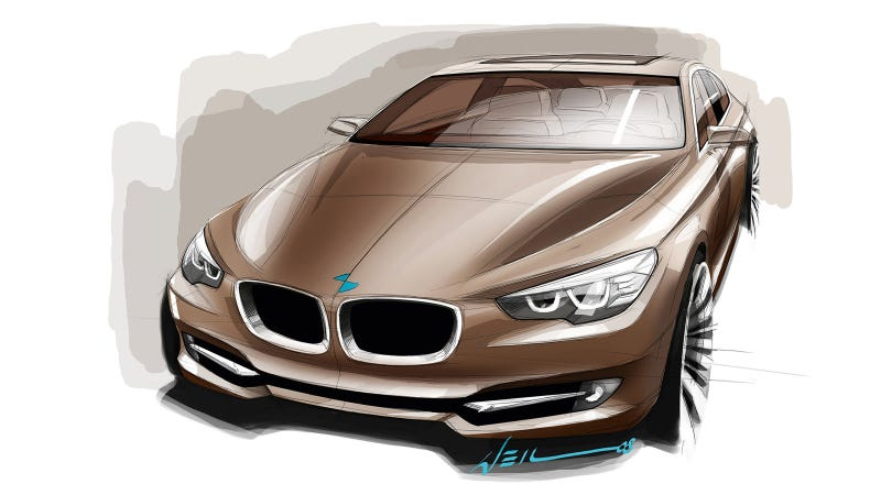 A published design sketch for the 5er GT