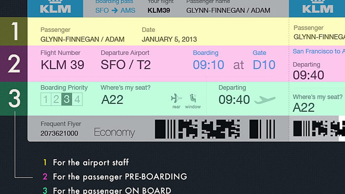 A Better Boarding Pass Rethinking One Of The Worst Design Offenders
