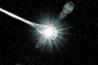"""Illustration for article titled White dwarf nova explosion emits """"shocking"""" burst of gamma rays"""