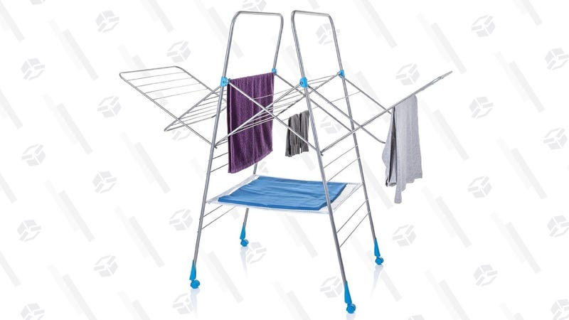 Be Nicer To Your Clothes With This Spacious 18 Folding Drying Rack