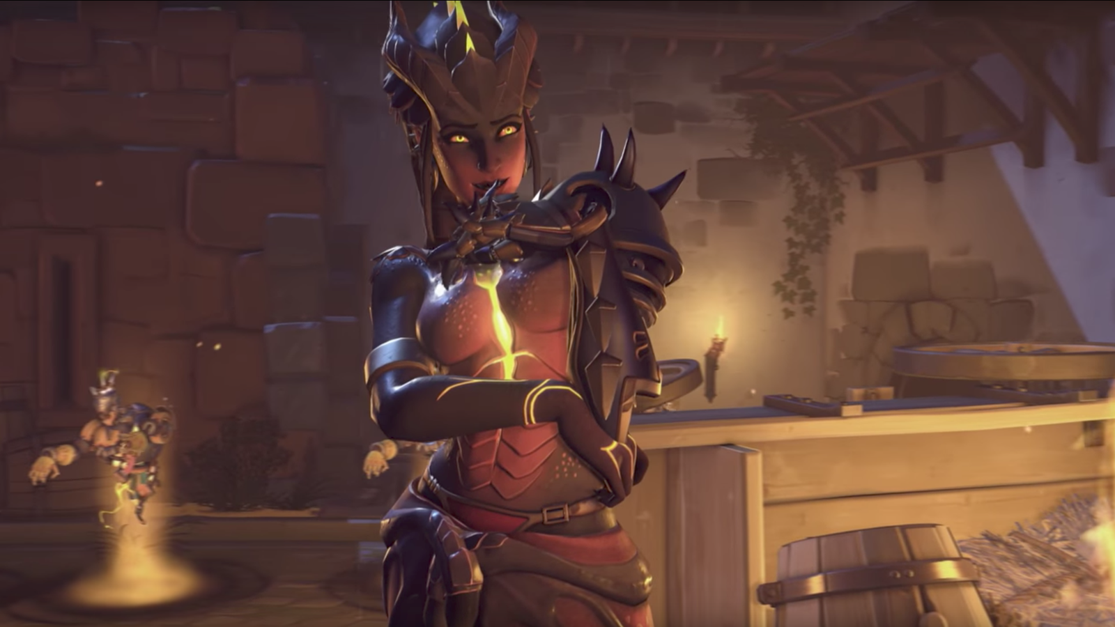 the internet reacts to overwatchs symmetra halloween skin