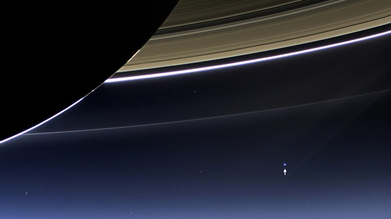 From Deep Space Our Pale Blue Dot Is Just This Tiny Speck