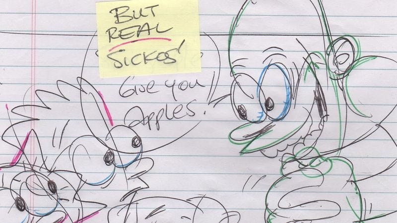 "Illustration for article titled John Kricfalusi reveals his Simpsons ""Treehouse Of Horror"" storyboards"