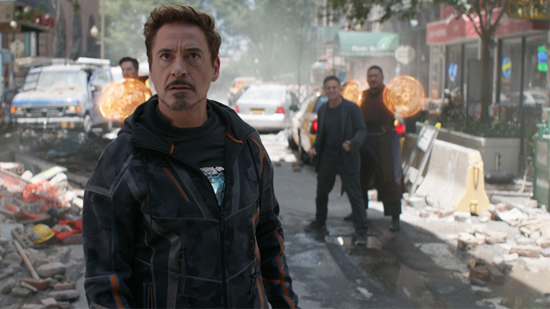 Robert Downey Jr. as Tony Stark in Avengers: Infinity War.