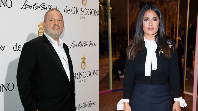 """Illustration for article titled Harvey Weinstein denies or """"can't recall"""" Salma Hayek's allegations"""