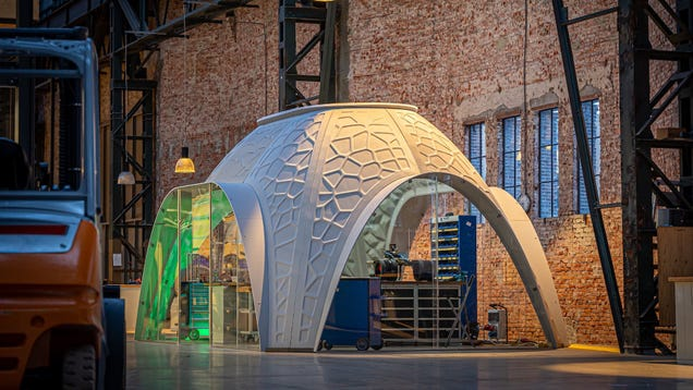 Your Next Office Might Be a 3D-Printed Smurf House