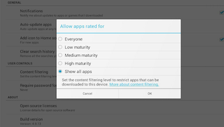 How to set parental controls on galaxy tablet