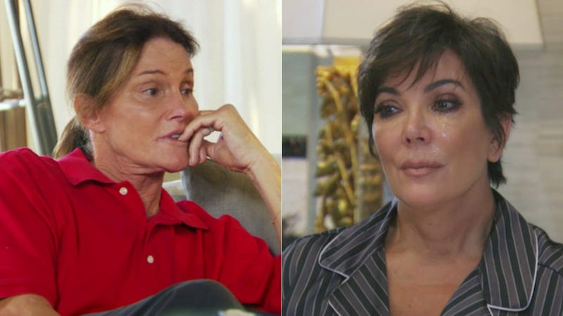 Illustration for article titled Kris Jenner's Weepy Response to Bruce's Transition Was Totally Staged