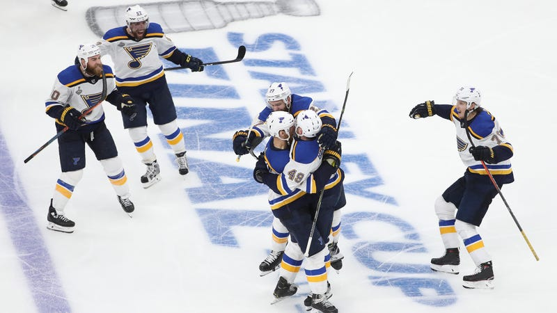 Illustration for article titled Carl Gunnarsson's Blue-Line Blast Gives The Blues Their First-Ever Stanley Cup Final Win