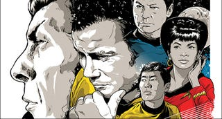 Illustration for article titled Leonard Nimoy's Final Artwork Is One of 50 Pieces of Star Trek Art Going On Tour