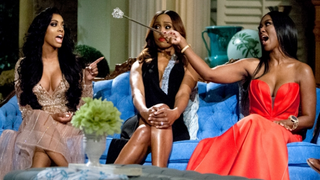 The Real Housewives of Atlanta stars Porsha Williams, Cynthia Bailey and Kenya MooreBravo screenshot