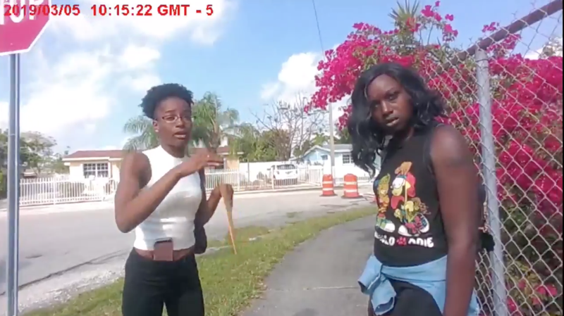 Adrianna Green (left) and Dyma Loving (right). Miami-Dade police were caught on video violently arresting Loving after she had called the police for help following an argument with a neighbor.