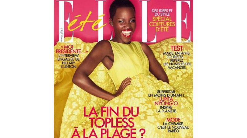 Illustration for article titled Lupita Nyong'o Is a Yellow Vision Of Fabulous On French Elle