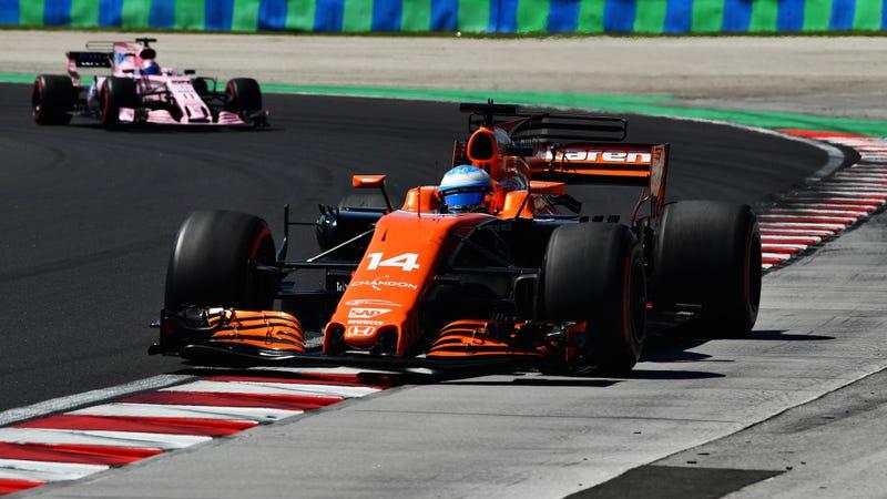 Fernando Alonso at the Hungarian Grand Prix. Photo credit: Dan Mullan/Getty Images
