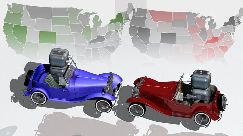Illustration for article titled Trust In Autonomous Cars Seems Split Along Political Lines