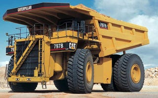 Illustration for article titled Meet Your New Robot Overlord: The Autonomous Mining Truck
