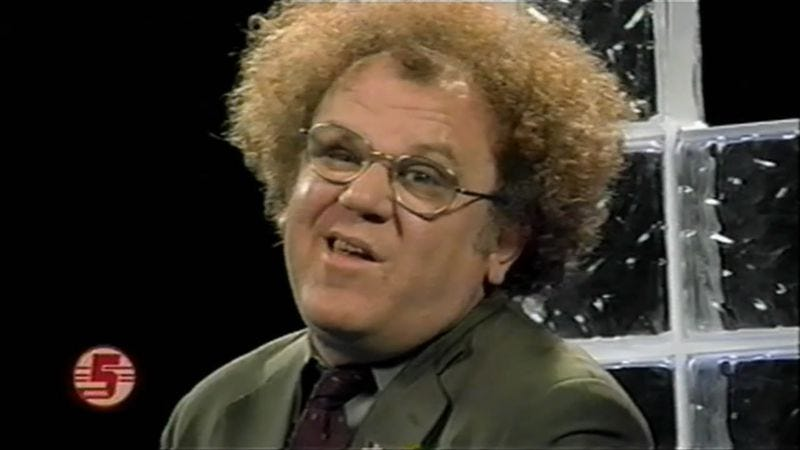 Illustration for article titled Check It Out! season three starts tonight, so here's Dr. Steve Brule vomiting on a plane