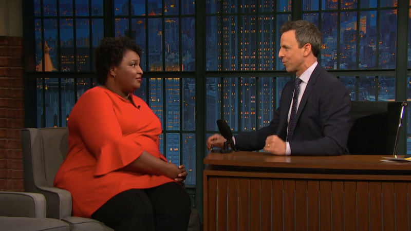 Stacey Abrams, Seth Meyers