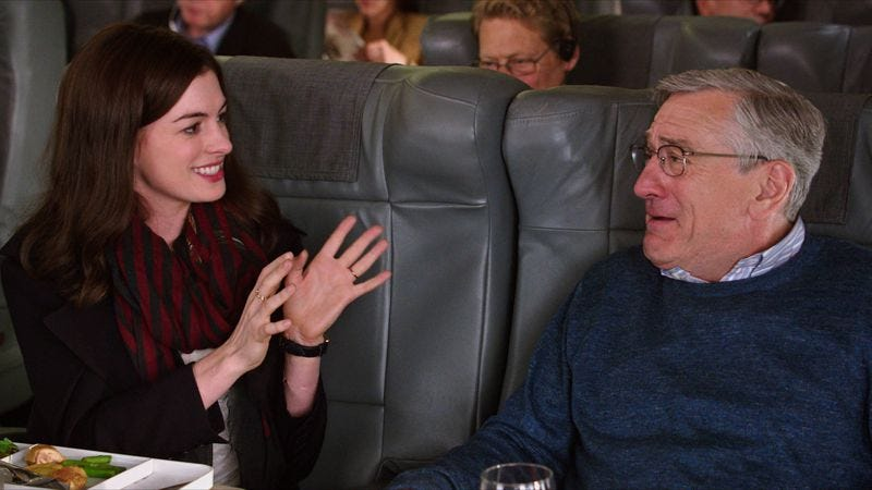 Illustration for article titled De Niro and Hathaway charm their way through Nancy Meyers' The Intern