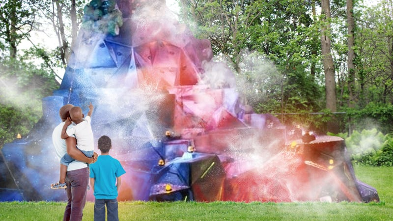 Illustration for article titled Heartwarming: This Dad Built A Life-Size Aggro Crag For His Sons Who Have No Idea What The Fuck That Is