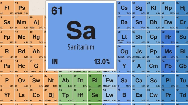 Explore The Best Brews Of 2016 With This Interactive Periodic Table
