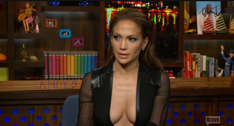 Illustration for article titled J. Lo Explains the Allure of the Ugly-Hot Guy on WWHL!