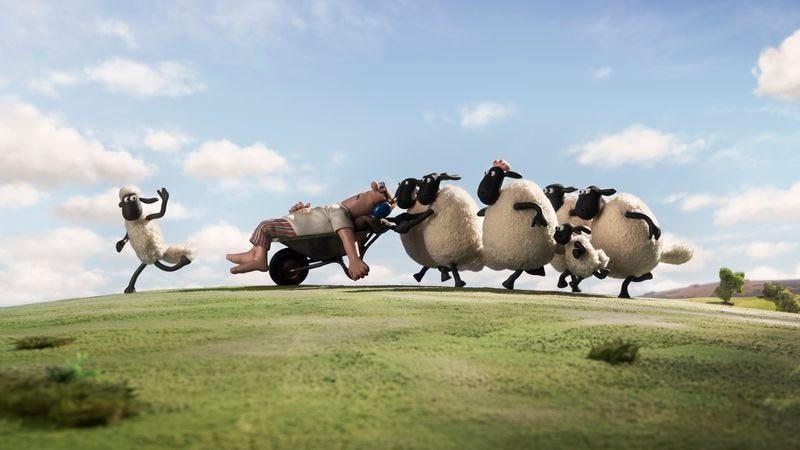 Illustration for article titled Animation fans may enjoy the relative silence of Aardman's Shaun The Sheep