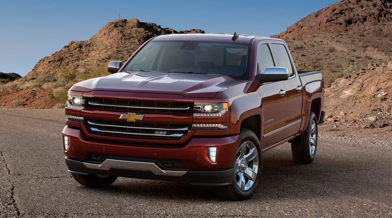 Illustration for article titled 2016 Chevrolet Silverado Gets More 8-Speed Transmissions And This Face
