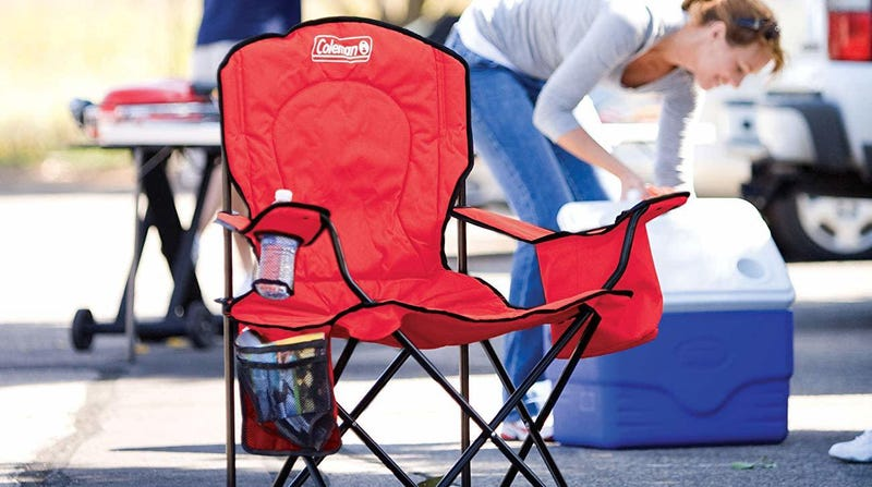 Coleman Portable Quad Camping Chair, Red   $22   Amazon