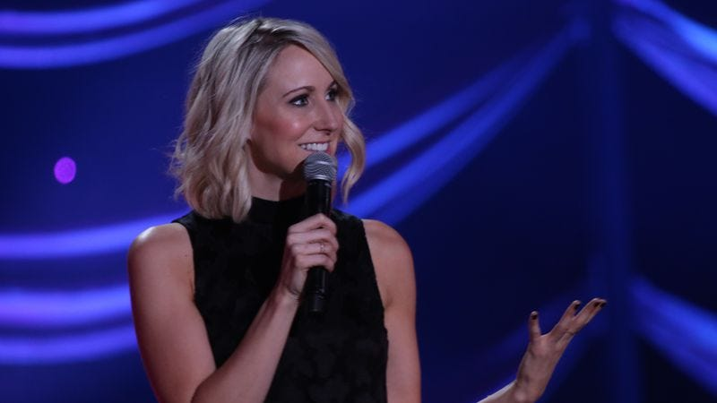 Nikki Glaser in her latest special, Perfect, which was produced by John Irwin.