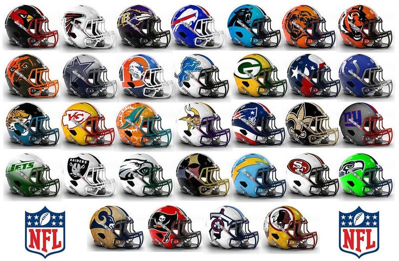 Illustration for article titled These NFL Helmet Concept Designs Are Definitely Bold