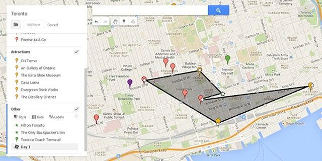 How To Plan A Trip Itinerary Using Custom Google Maps - Trip maker google maps