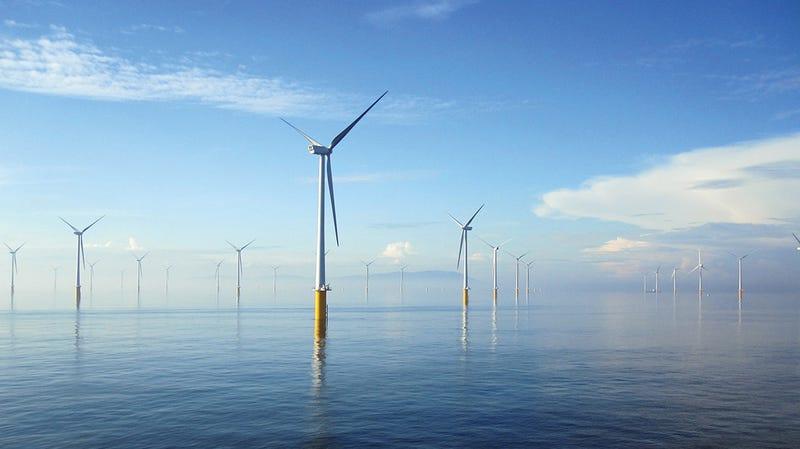 El parque eólico marino más grande del mundo, a 12 km de la costa de Kent y Essex. Imagen: London Array