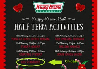 "Illustration for article titled Krispy Kreme is Really Sorry About Its ""KKK Wednesdays"" Promotion"