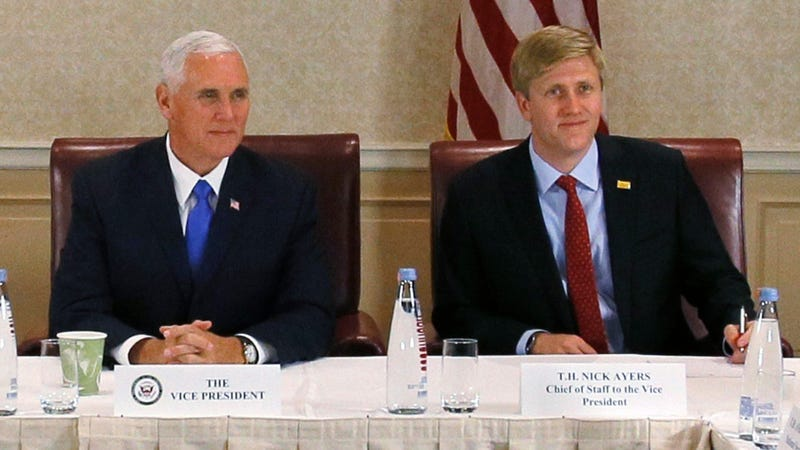 Vice President Pence with Chief of Staff Nick Ayers.