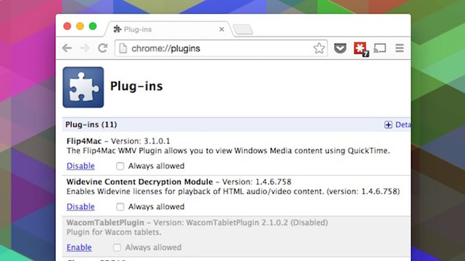 chrome://plugins/