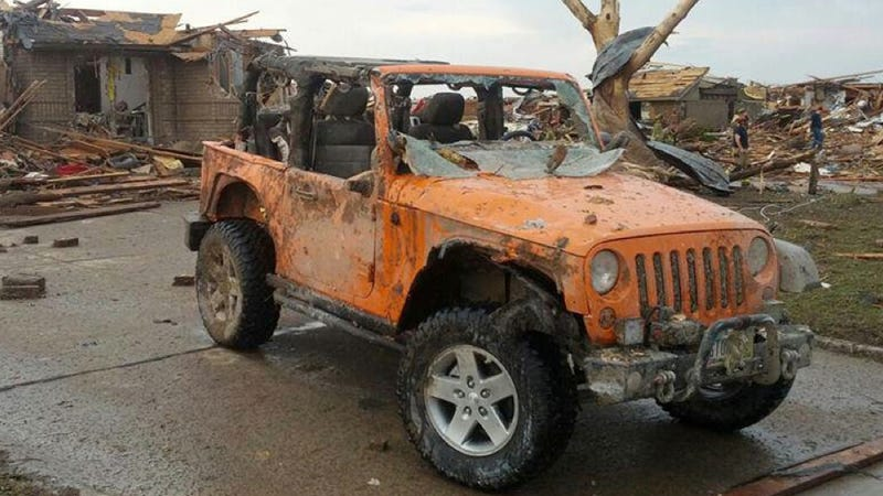 Illustration for article titled Heroic Jeep That Rescued People After A Tornado Is Getting A Rebuild