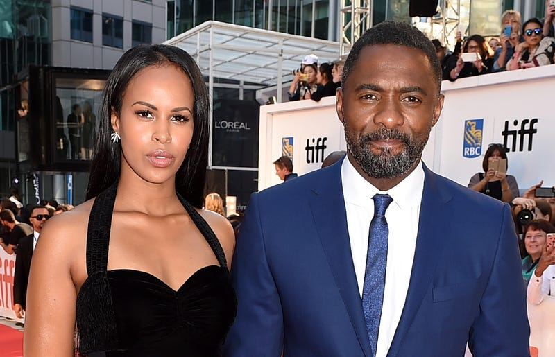 Sabrina Dhowre and Idris Elba attend The Mountain Between Us premiere on Sept. 10, 2017, in Toronto. (Kevin Winter/Getty Images)