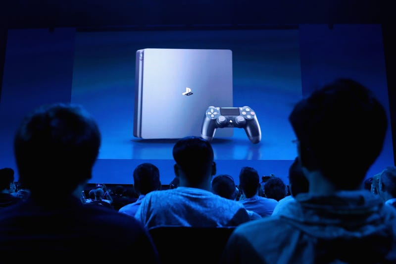 Game enthusiasts and industry personnel attend the Sony PlayStation E3 conference at the Shrine Auditorium on June 12, 2017 in Los Angeles, California.