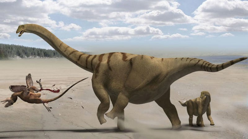 Illustration for article titled Scientists have discovered the first known remains of an Antarctic sauropod