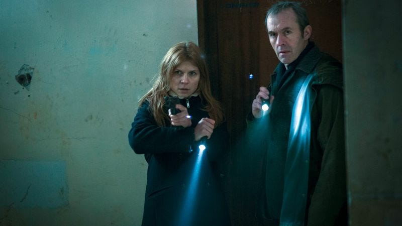 Clémence Poésy and Stephen Dillane (Photo: PBS/BSkyB)