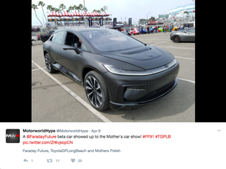 Illustration for article titled Faraday Future Should Make The FF 91 Look Like This
