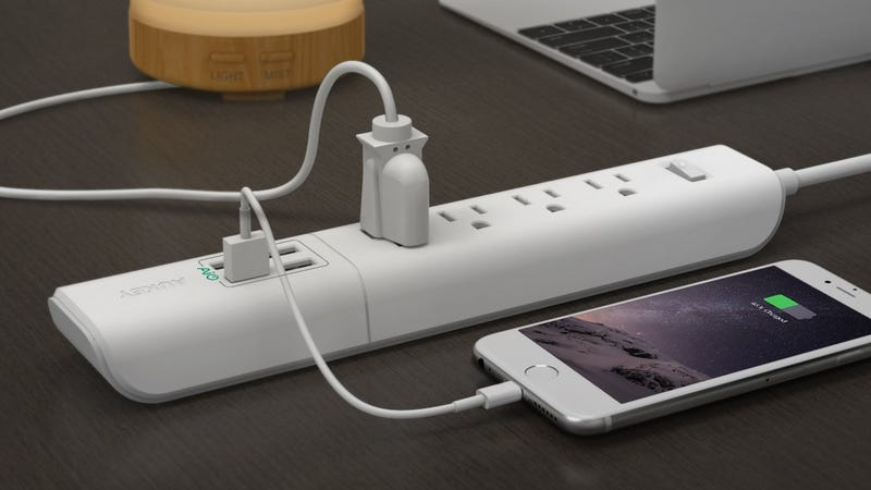 4-Outlet/4-USB Power Strip | $12 | Amazon | Promo code AUKEYK07