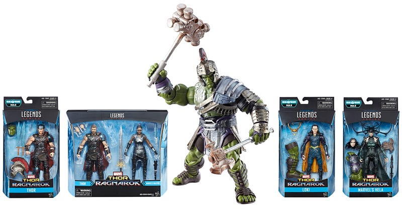 Illustration for article titled Building This Massive Gladiator Hulk Totally Justifies Buying All These Thor: Ragnarok Figures