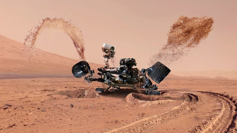 Illustration for article titled Delirious Rover Hallucinates Water On Mars