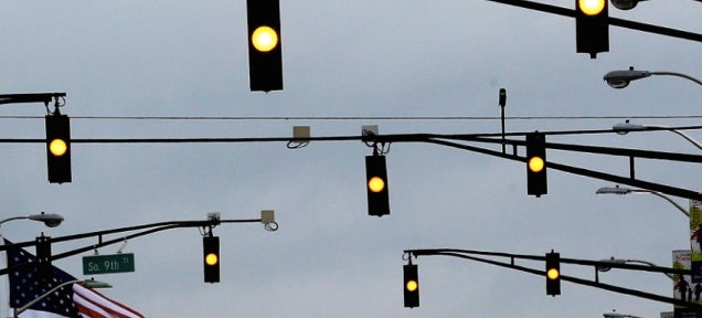 flashing yellow traffic light - photo #26