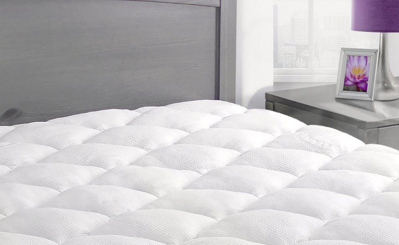 ExceptionalSheets Bamboo Mattress Pad with Fitted Skirt, $67-$90